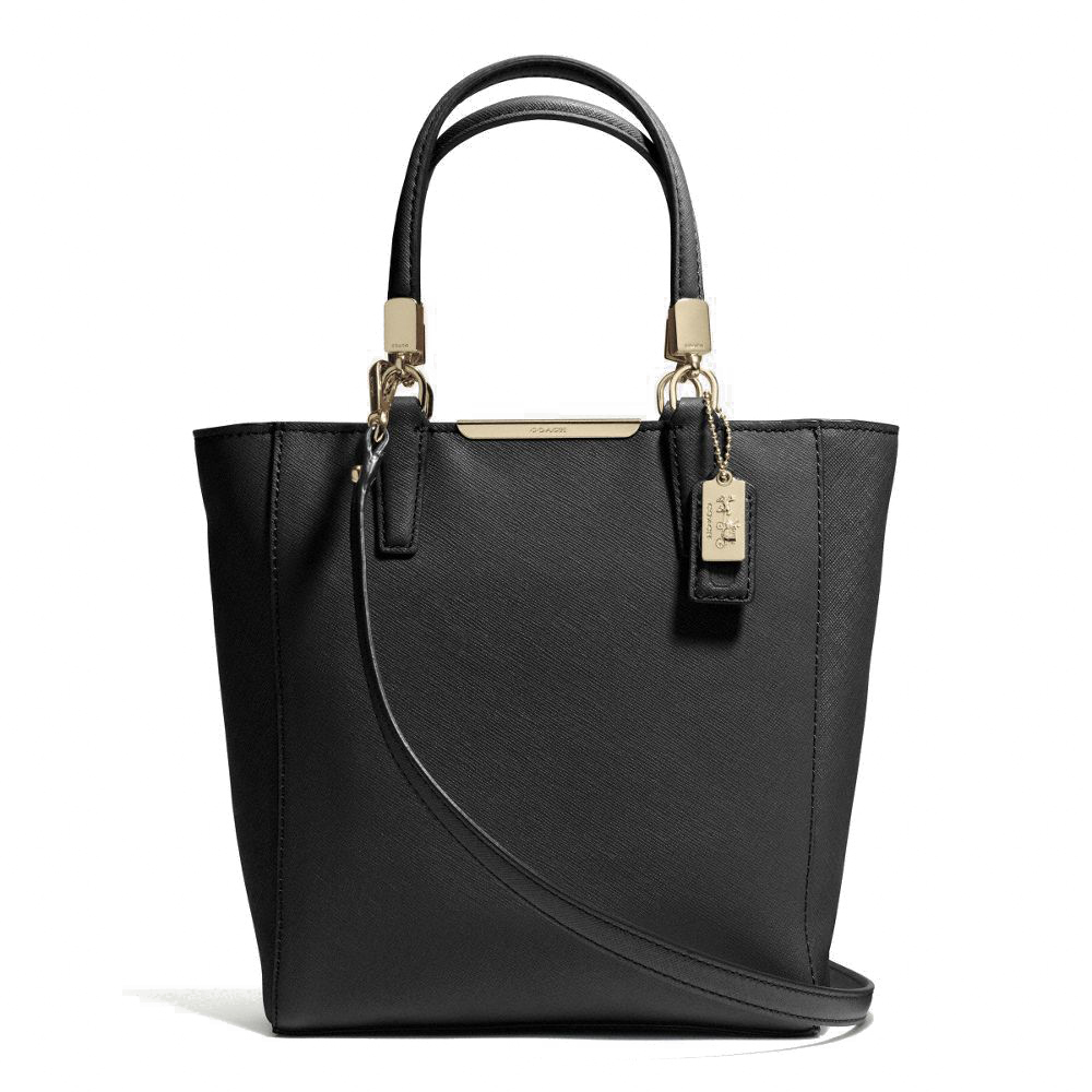 Coach Madison Saffiano Mini North / South Tote Black # 29001