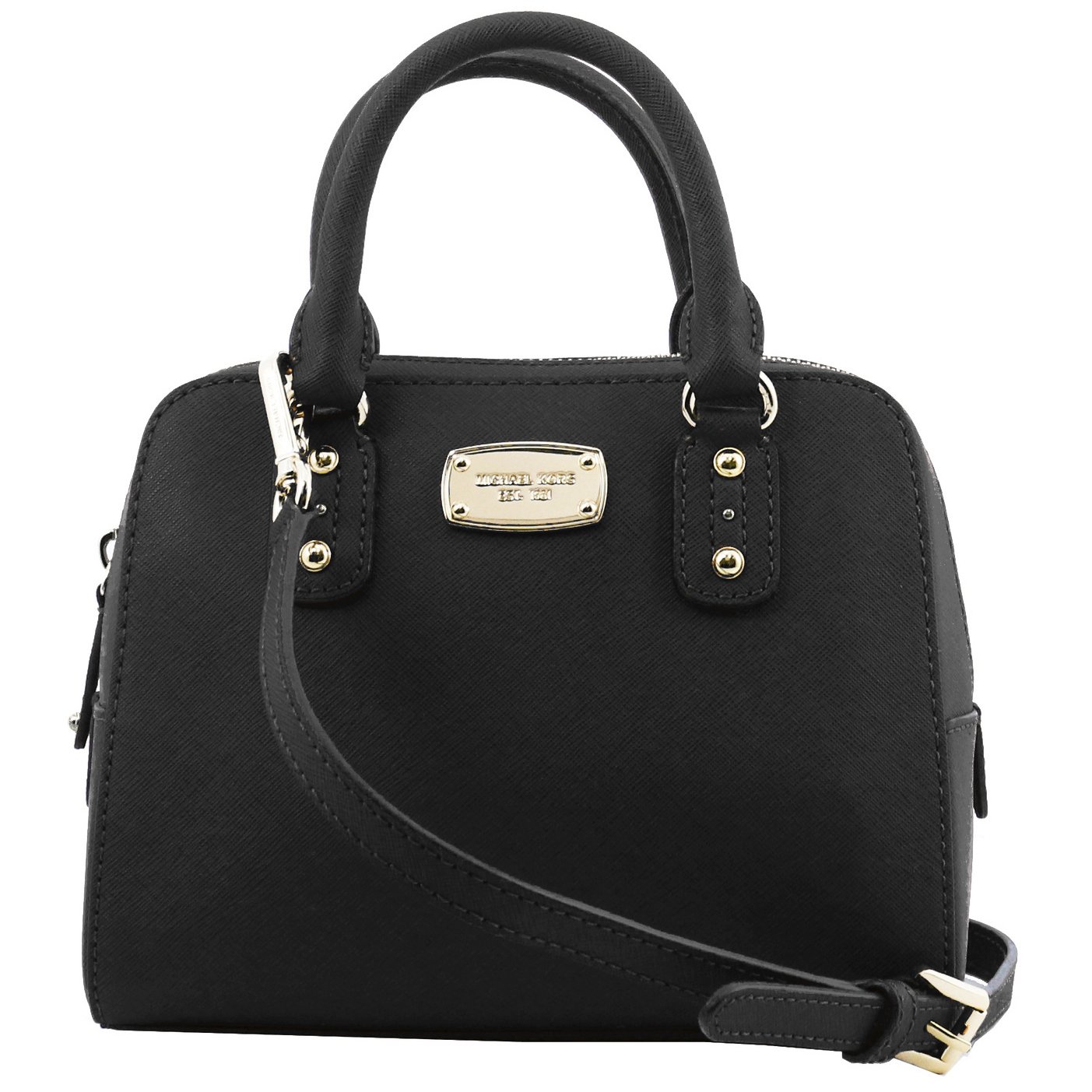 Saffiano Small Mini Leather Crossbody Satchel Black # 35S5GSAS1L