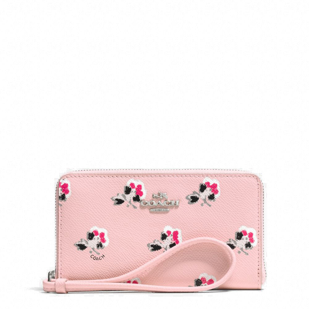Spreesuki buy coach wristlets online floral crossgrain leather east west universal zip case wristlet wallet pink 63965b coach mightylinksfo