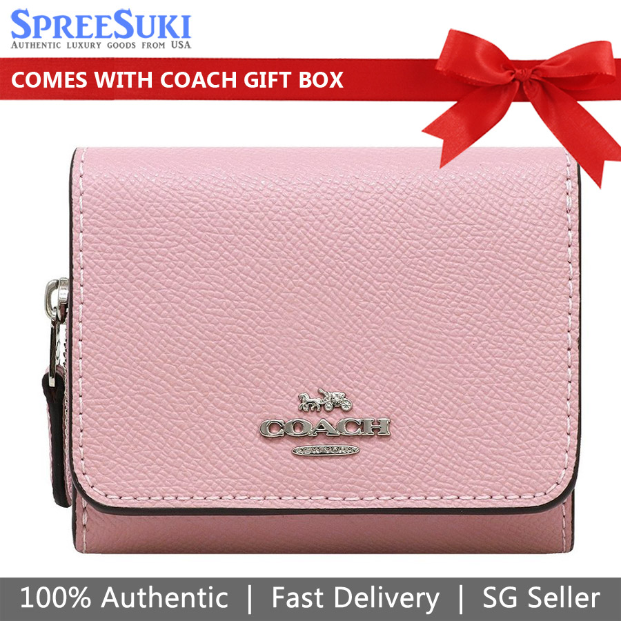 Coach Small Trifold Wallet Carnation Pink # F37968