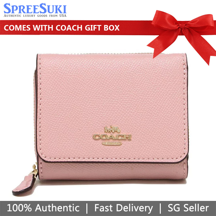 Coach Small Trifold Wallet Blossom Pink # 37968