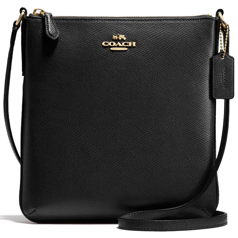 Coach Crossgrain Leather North / South Crossbody Bag Black # F36063