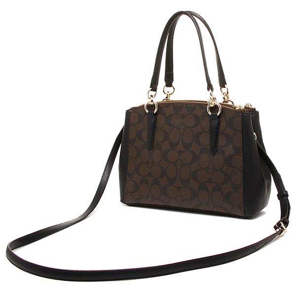 c4d1a00f0b3b Coach Signature Mini Christie Carryall Crossbody Shoulder Bag Black   Brown    F36718
