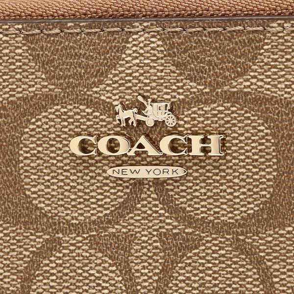 official photos ae3be 579c1 SpreeSuki - Coach Accordion Zip Wallet In Signature Saddle ...