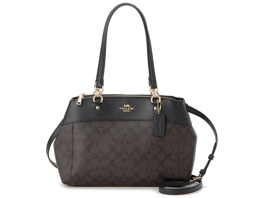 Coach Brooke Carryall Shoulder Crossbody Bag Brown Black # F25396
