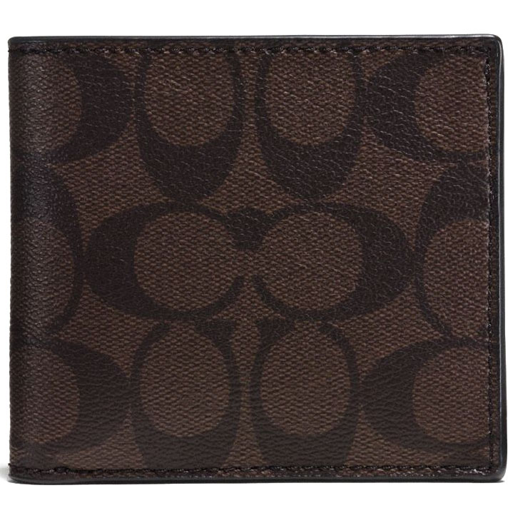 Coach Coin Case In Signature Mahogany / Brown # F75006