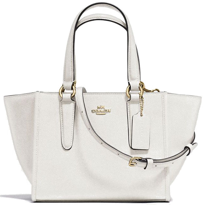 Coach Crosby Carryall 21 In Crossgrain Leather Chalk White # F11925