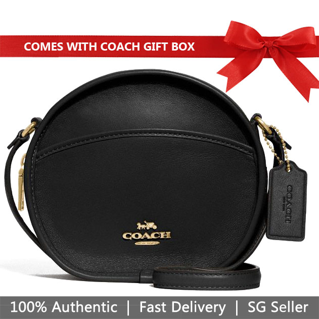 Coach Crossbody Bag In Gift Box Canteen Crossbody Black # F27971
