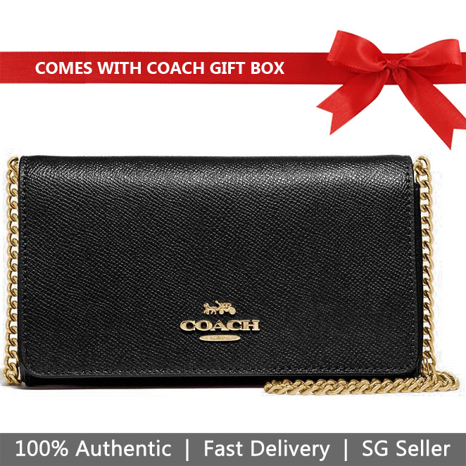 Coach Crossbody Bag In Gift Box Dressy Crossbody Black # F39126