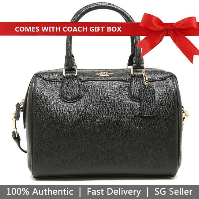 Coach Crossbody Bag In Gift Box Mini Bennett Satchel Crossbody Bag Black # F32202