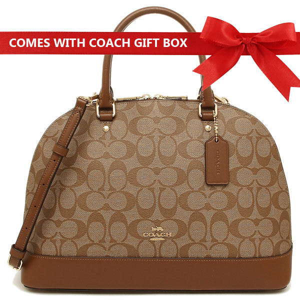 9f69bc4358d2 Coach Crossbody Bag In Gift Box Sierra Satchel Khaki   Saddle Brown 2    F27584