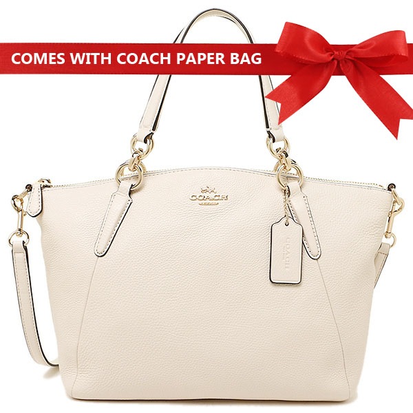 Coach Crossbody Bag Pebble Leather Small Kelsey Satchel Crossbody Shoulder Bag Chalk White # F36675