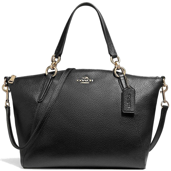 Coach Crossbody Bag Small Kelsey Satchel Black # F26917