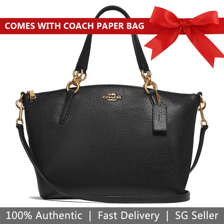 Coach Crossbody Bag Small Kelsey Satchel Black / Gold # F28993