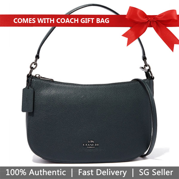 669bd39909 Coach Crossbody Bag With Gift Bag Chelsea Crossbody Cypress Dark Green #  56819