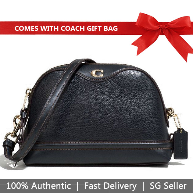 Coach Crossbody Bag With Gift Bag Ivie Crossbody Black # F37863