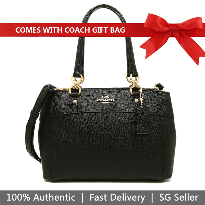 Coach Crossbody Bag With Gift Bag Mini Brooke Carryall Black / Gold # F25395