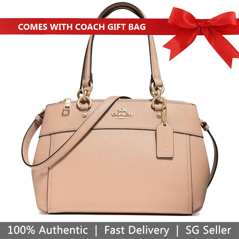 Coach Crossbody Bag With Gift Bag Mini Brooke Carryall Nude Pink # F31251