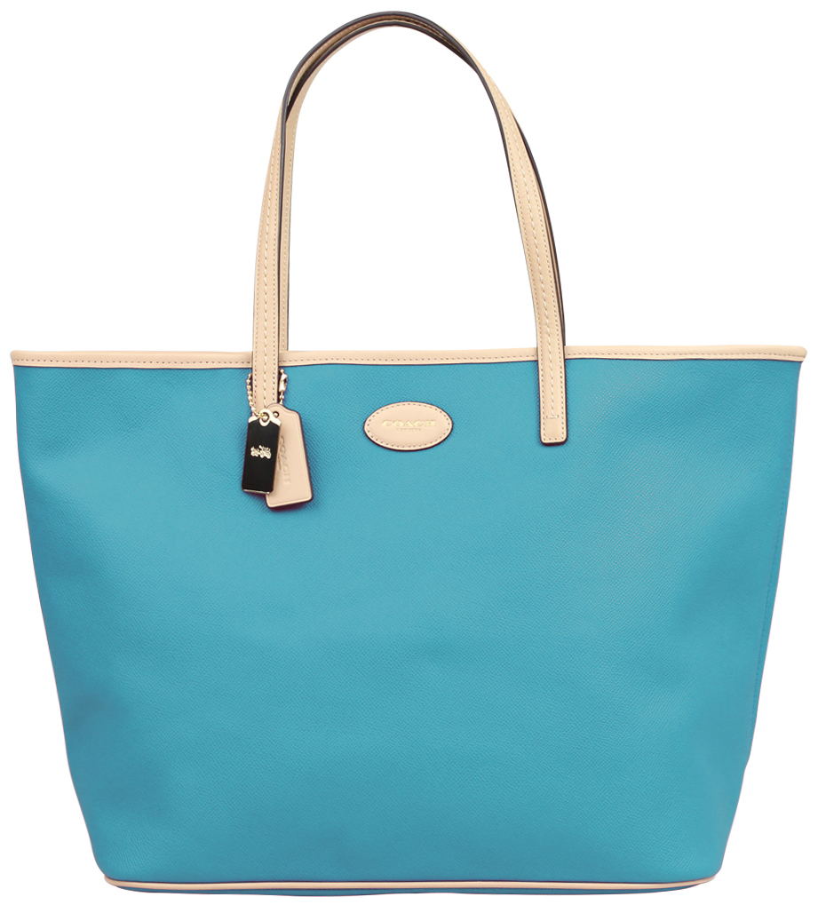 Coach Crossgrain Leather Metro Tote Cadet Blue # 37198E