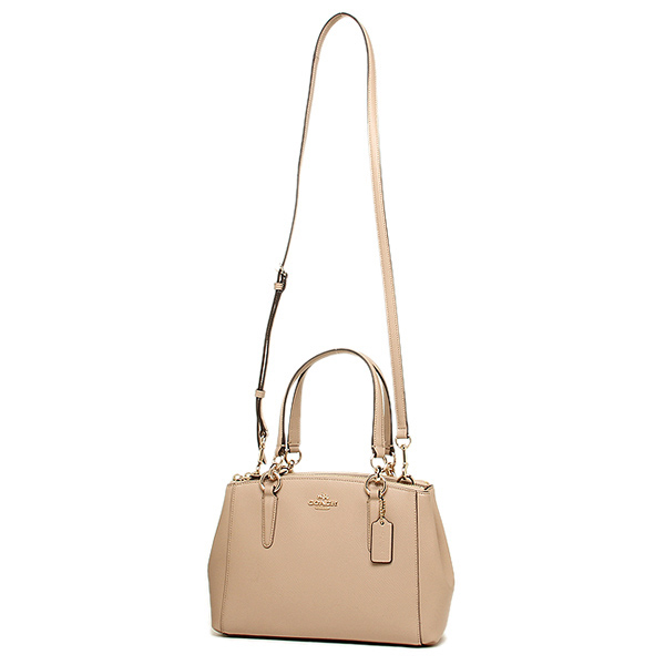 e69ee8060fec Coach Crossgrain Leather Mini Christie Carryall Crossbody Shoulder Bag Nude  Beige   F36704