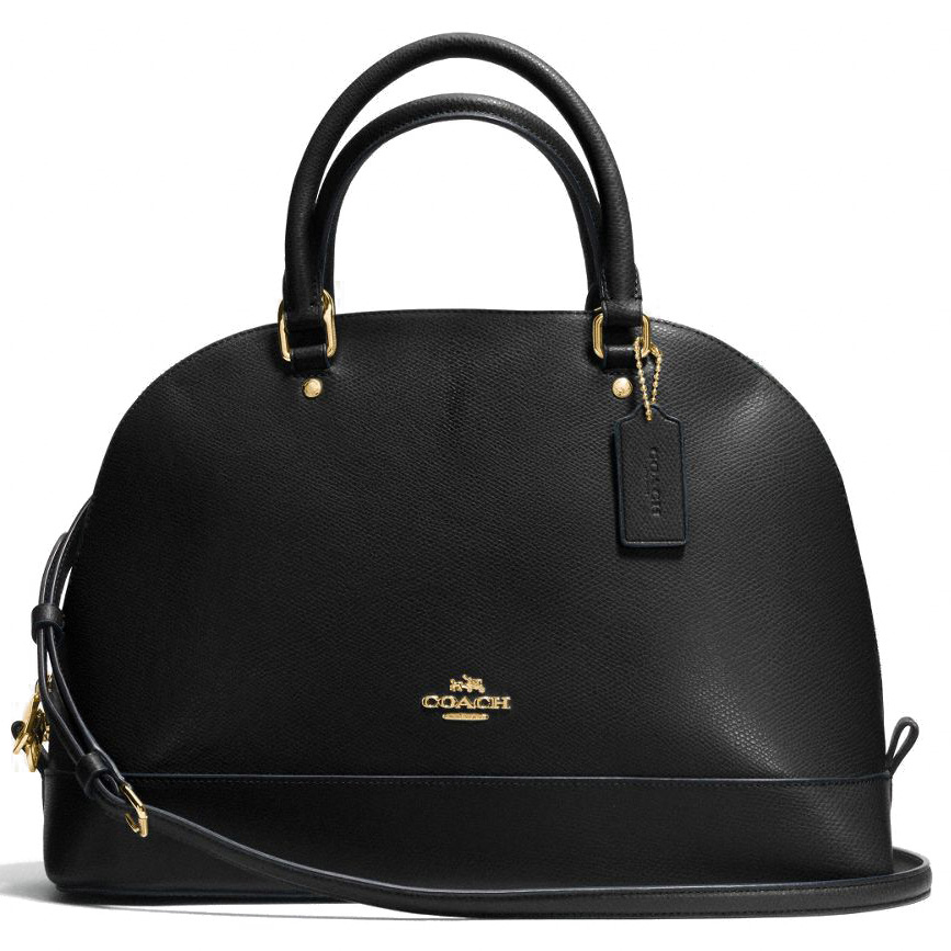 Coach Crossgrain Leather Sierra Satchel Black # F37218