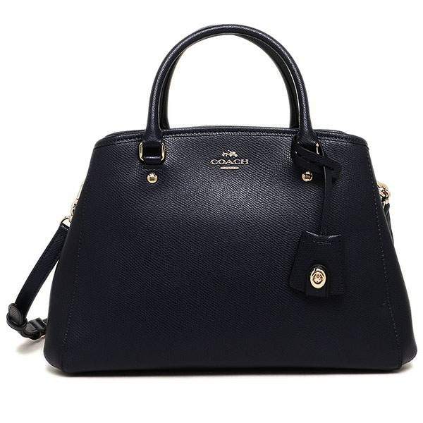 Coach Crossgrain Leather Small Margot Carryall Crossbody Shoulder Bag Midnight / Navy # F34607
