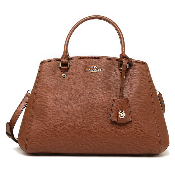 Coach Crossgrain Leather Small Margot Carryall Crossbody Shoulder Bag Saddle Brown # F34607