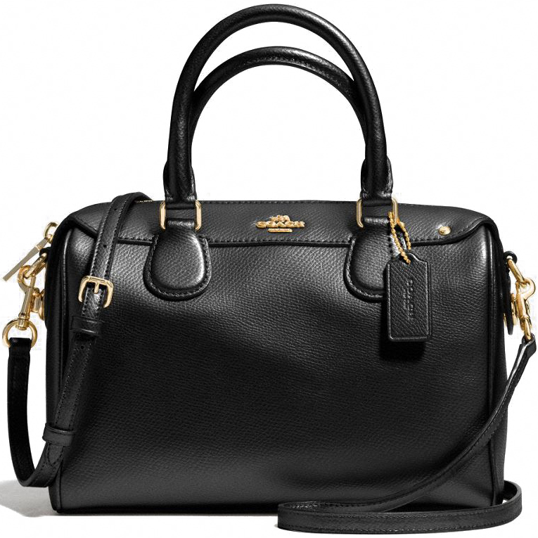 Coach Crossgrain Mini Bennett Satchel Crossbody Bag Black # F36624