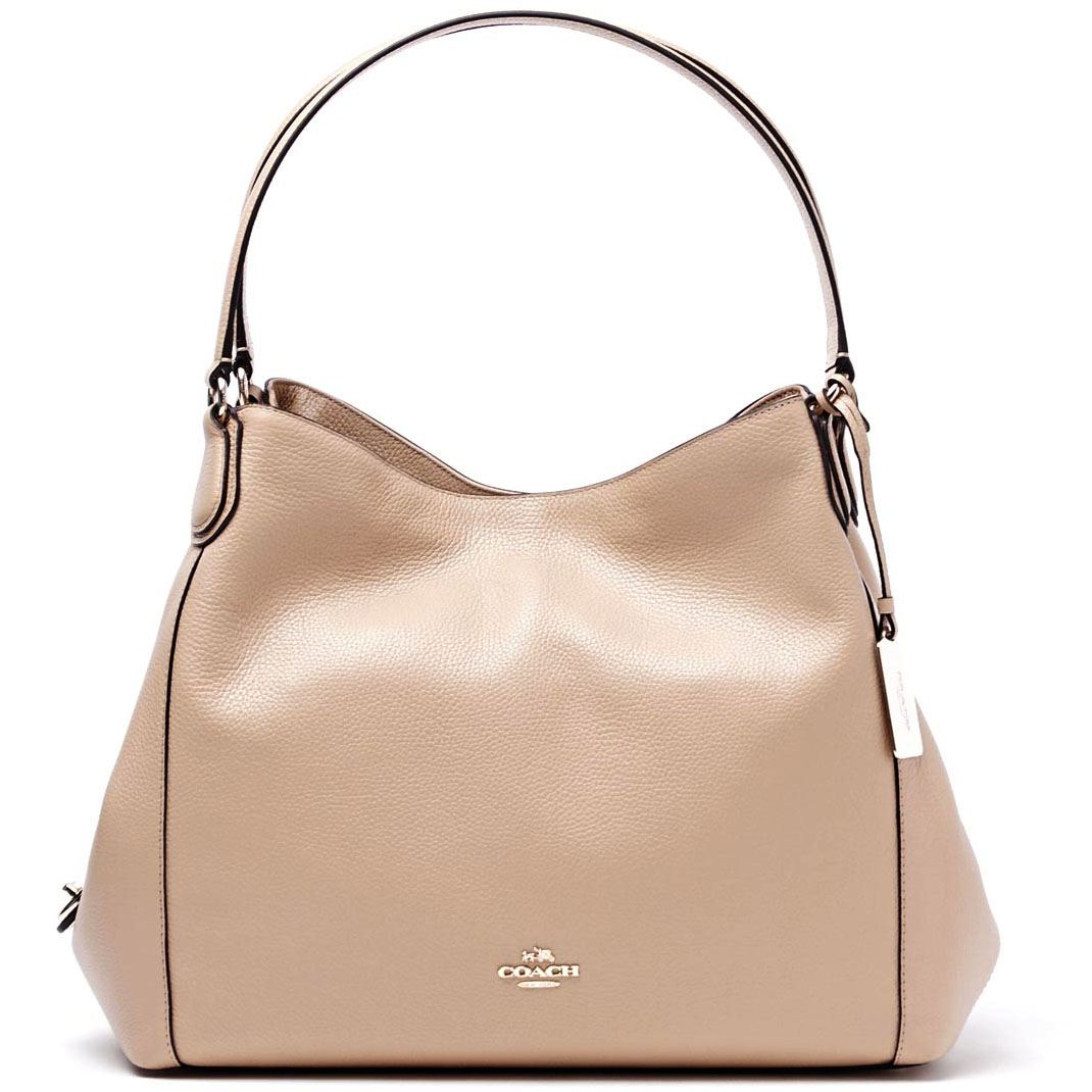 Coach Edie Shoulder Bag In Pebble Leather Nude # F33547