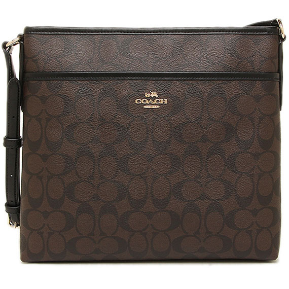 Coach File Bag In Signature Gold / Brown / Black # F58297