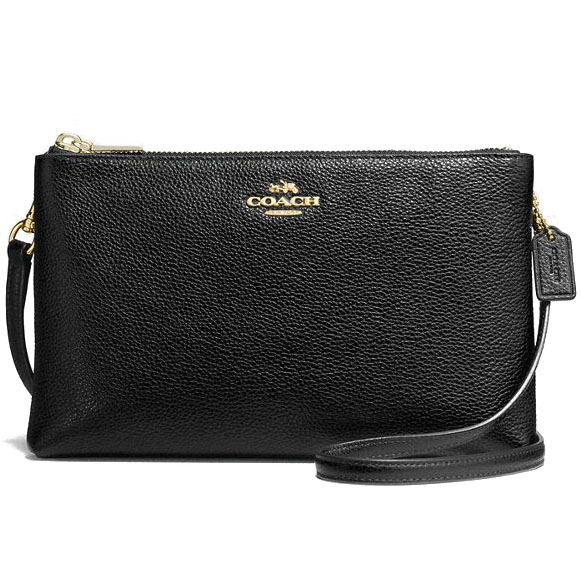 Coach Lyla Crossbody In Pebble Leather Gold / Black # F38273