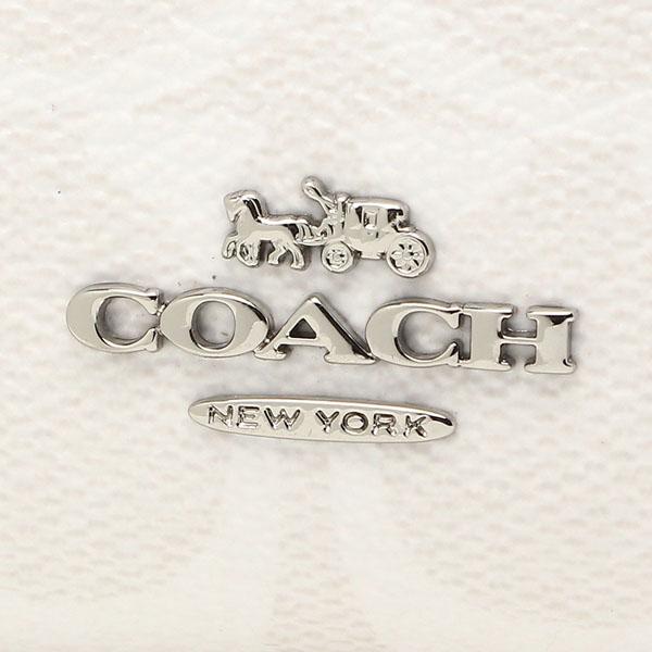 2063e2381ea08 Coach Medium Corner Zip Wallet In Signature Canvas Chalk White   Midnight  Navy Dark Blue