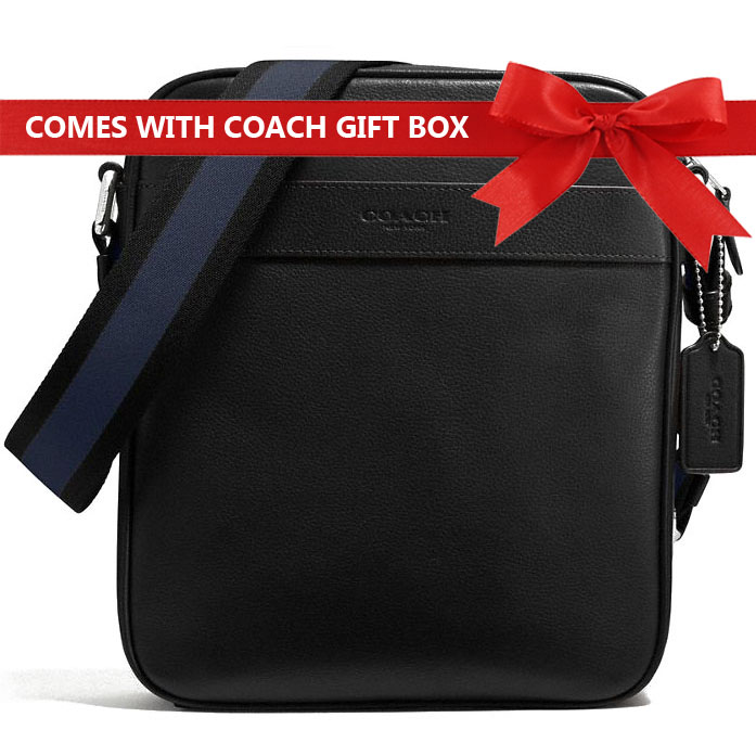 Coach Men Charles Flight Bag In Smooth Leather Black # F54782