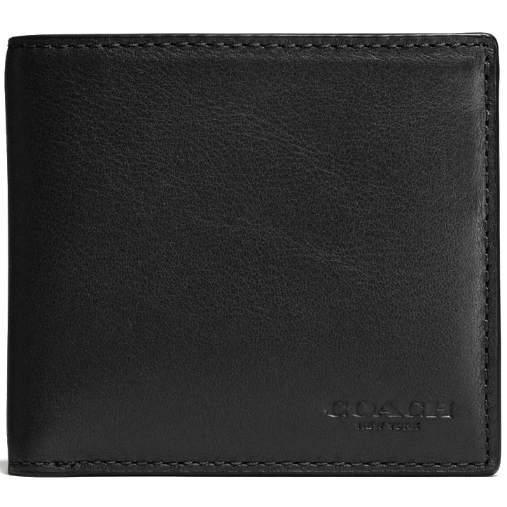Coach Men Coin Wallet In Sport Calf Leather Black # F75003