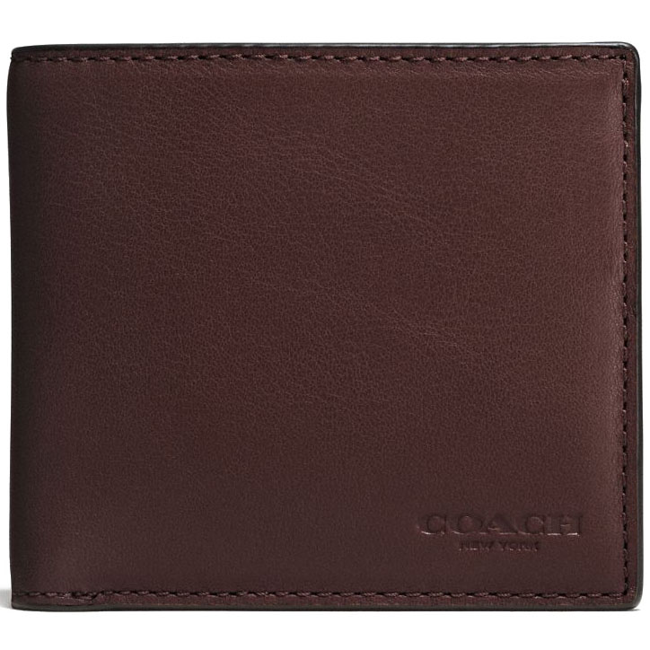 Coach Men Coin Wallet In Sport Calf Leather Mahogany # F75003