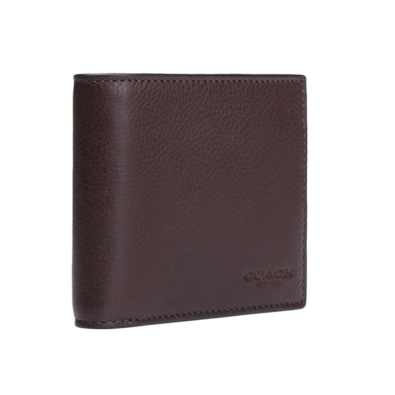 98aa5165232d ... germany coach men compact id wallet in sport calf leather mahogany  f74991 96dc7 244b1