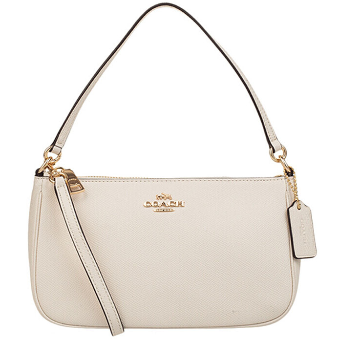 Coach Messico Top Handle Pouch Crossbody Bag Light Gold / Chalk # F25591