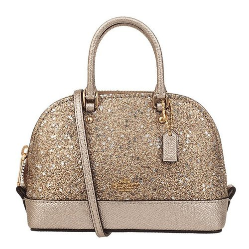 f3f6a0becc30 SpreeSuki - Coach Micro Mini Sierra Satchel With Star Glitter Gold ...