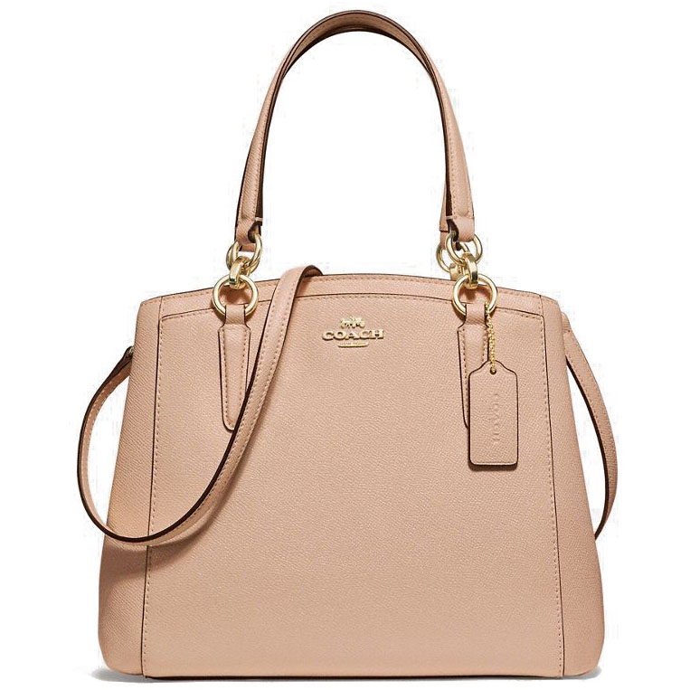 Coach Minetta Crossbody Bag Nude Pink Beige / Gold # F13683