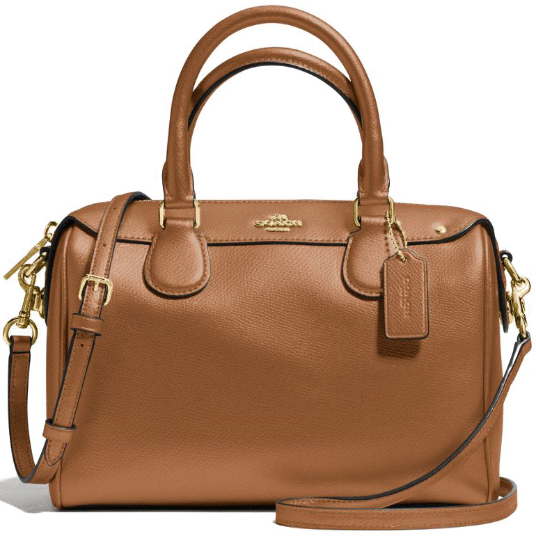 Coach Mini Bennett Satchel In Crossgrain Leather Saddle Brown # F57521