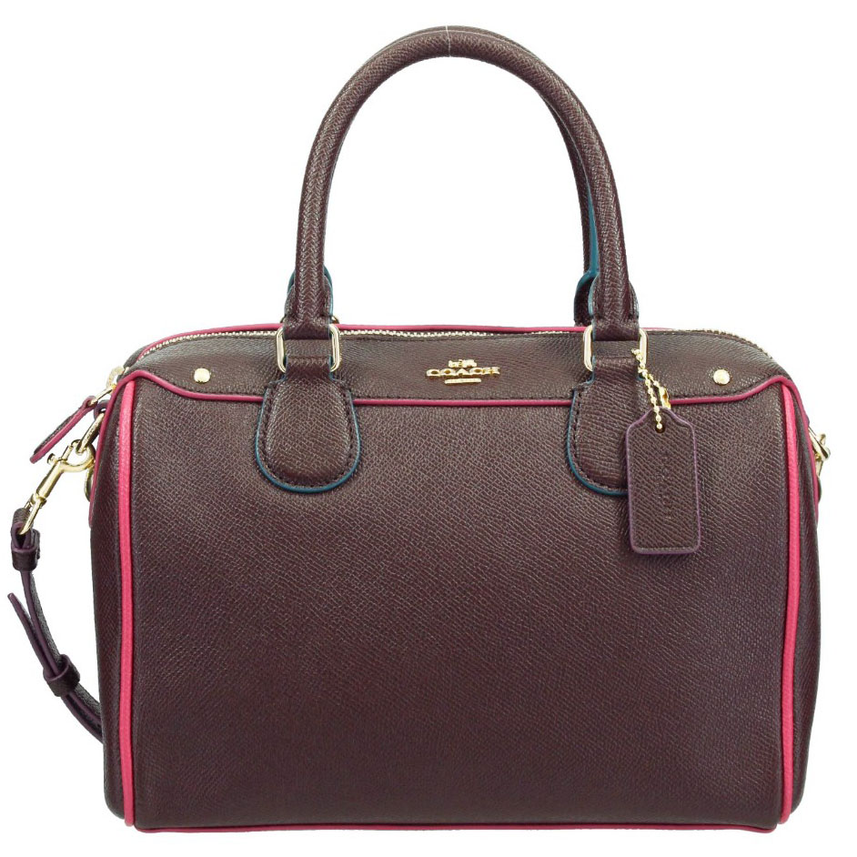 Coach Mini Bennett Satchel With Edgepaint Oxblood Red Multi # F22237