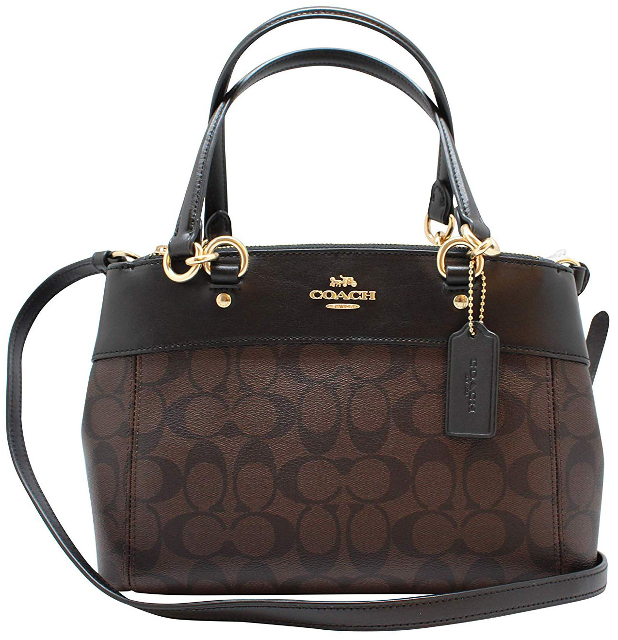 Coach Mini Brooke Carryall Crossbody Bag Brown / Black / Gold # F26139