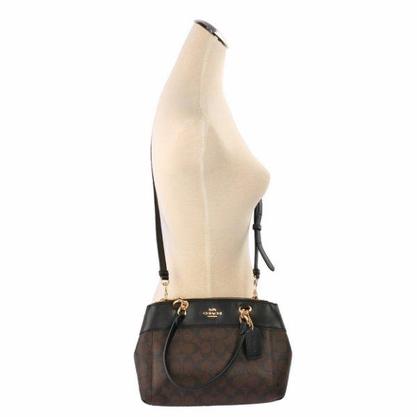 f36c5c1a2e ... best price coach mini brooke carryall crossbody bag brown black gold  f26139 af690 14123