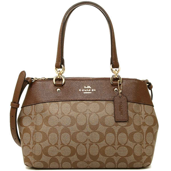 Coach Mini Brooke Carryall Khaki / Saddle Brown # F26139