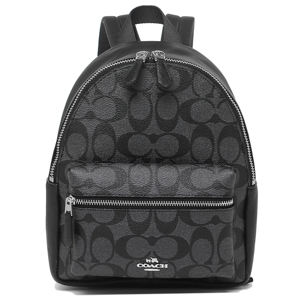 Coach Mini Charlie Backpack Silver / Black Smoke # F58315