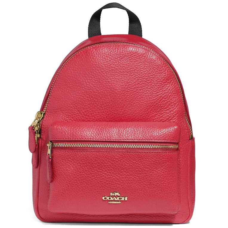 Coach Mini Charlie Backpack True Red / Gold # F28995