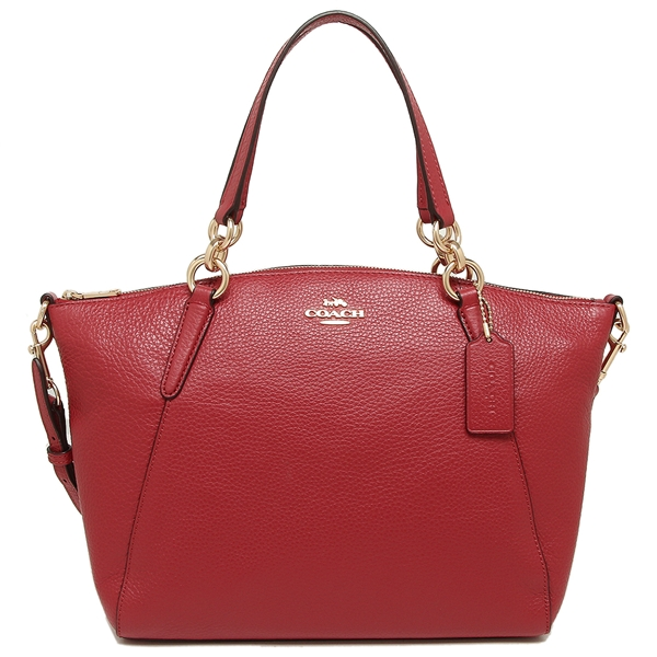 Coach Mini Kelsey Satchel Crossbody Bag True Red / Gold # F28994