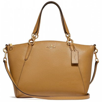 Coach Mini Kelsey Satchel Light Saddle # F27596