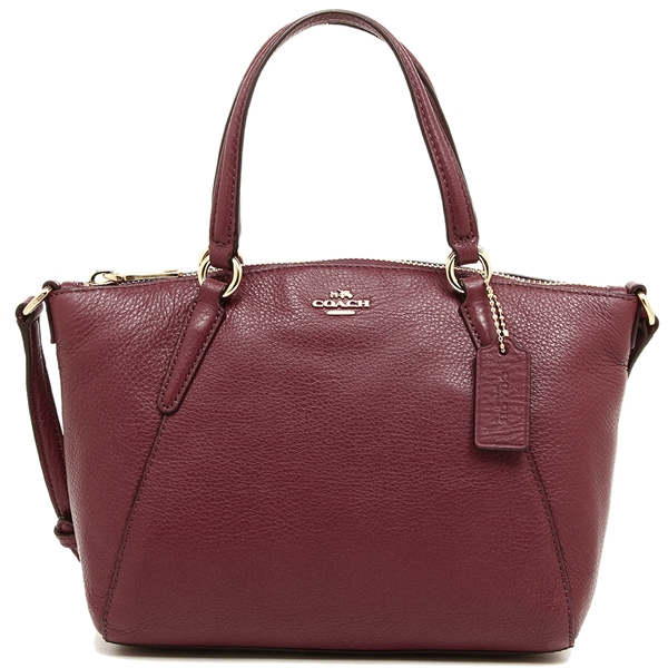 Coach Mini Kelsey Satchel In Pebble Leather Crimson Red # F57563