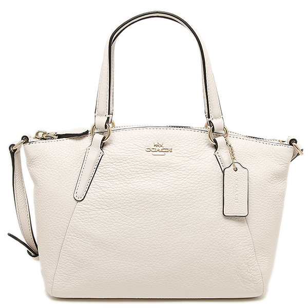 Coach Mini Kelsey Satchel In Pebble Leather Gold / Chalk # F57563